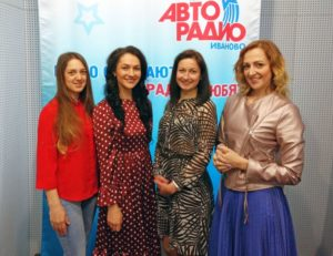 Ксения Селезнева и участницы конкурса Наталья Шибаева, Анна Гербер, Екатерина Низова